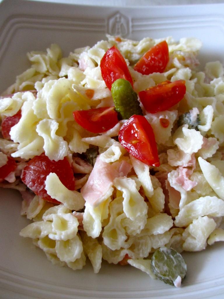 Salade de p tes au jambon et tomates cerises diet - Salade de pates jambon ...
