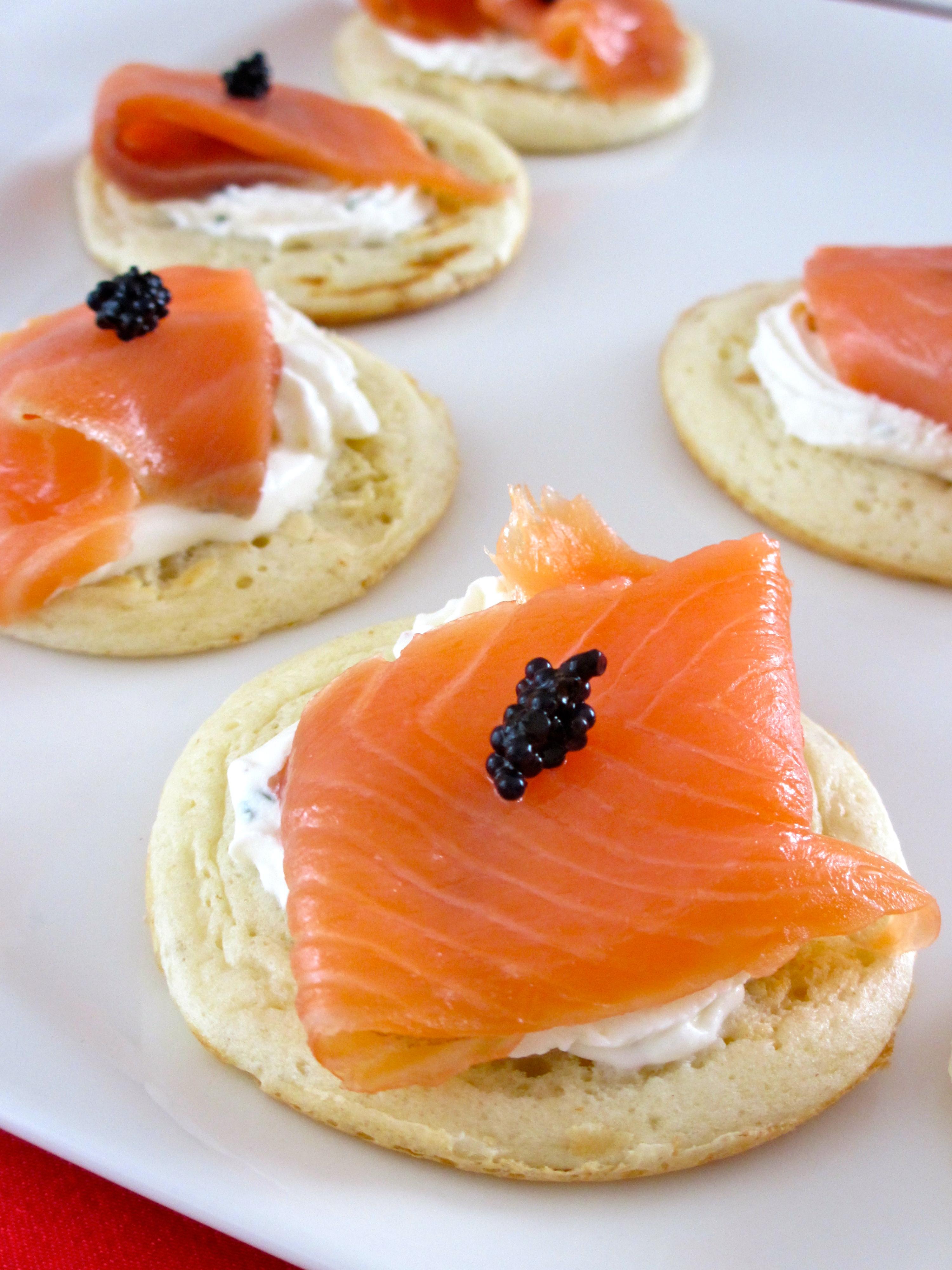 Blinis au saumon diet d lices recettes diet tiques for Canape au fromage