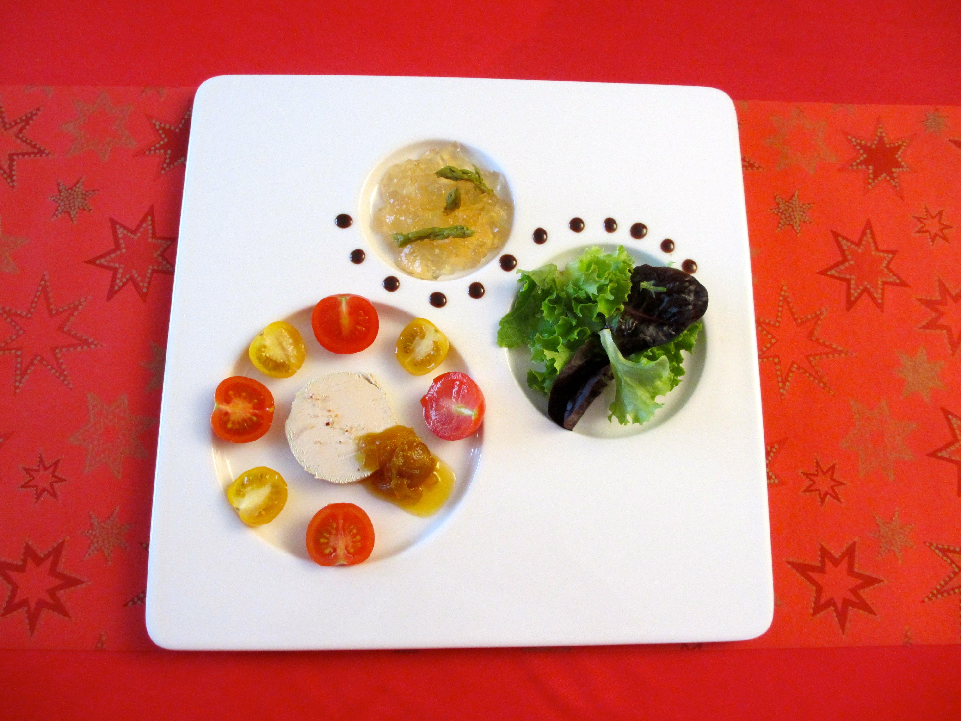 Assiette de foie gras et ses accompagnements diet d lices recettes diet tiques - Decoration foie gras assiette ...
