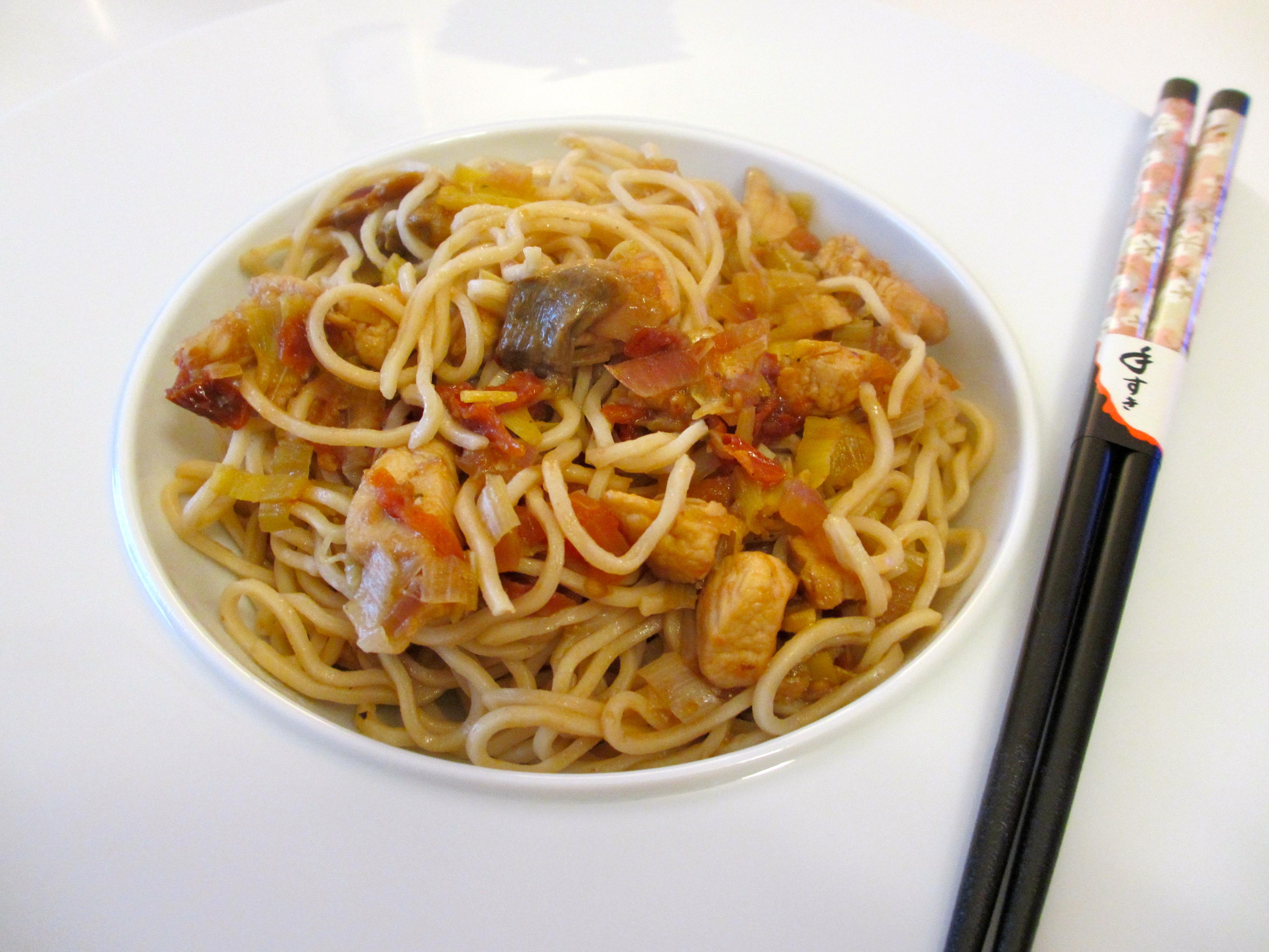 nouilles chinoises poulet poireaux diet d lices recettes diet tiques. Black Bedroom Furniture Sets. Home Design Ideas