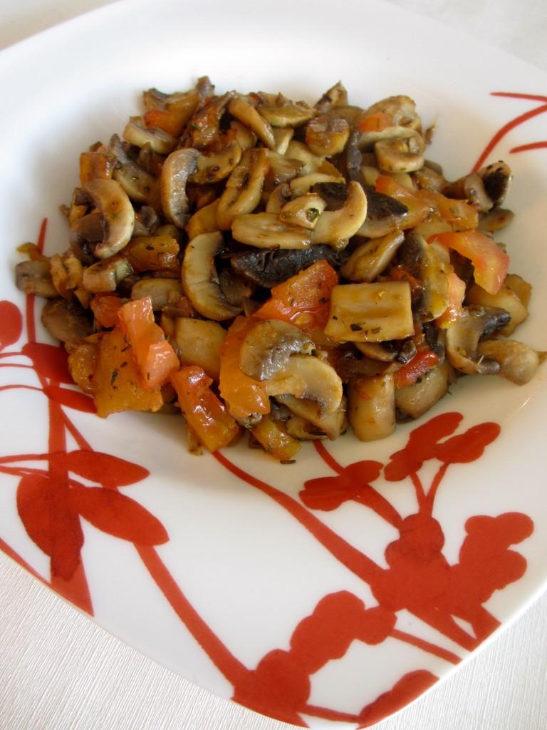 champignons frais aux saveurs proven ales diet d lices recettes diet tiques. Black Bedroom Furniture Sets. Home Design Ideas