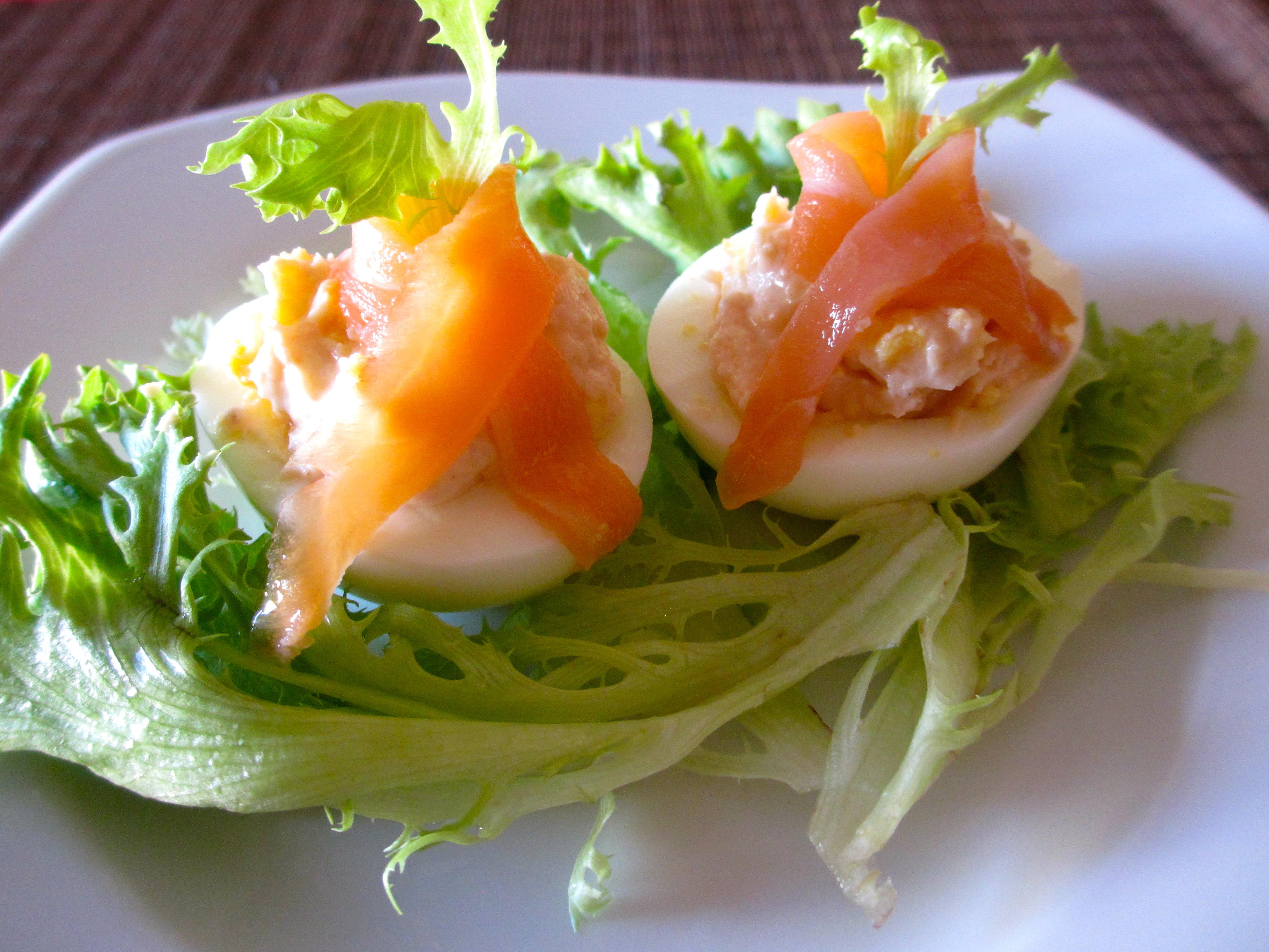 oeufs en saumon diet d lices recettes diet tiques. Black Bedroom Furniture Sets. Home Design Ideas