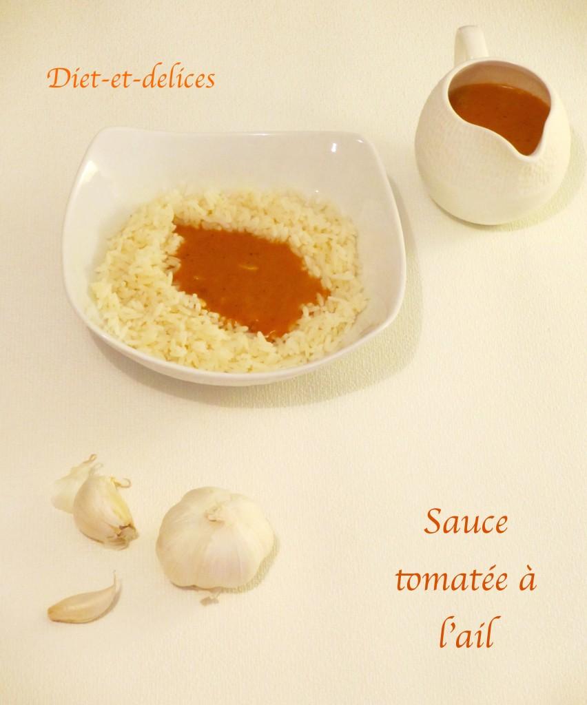sauce tomat e l ail diet d lices recettes diet tiques. Black Bedroom Furniture Sets. Home Design Ideas