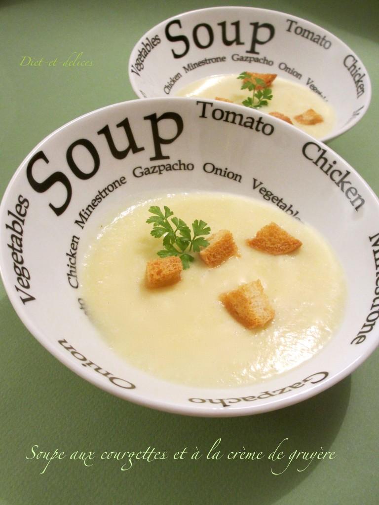 Soupe aux courgettes et à la crème de gruyère