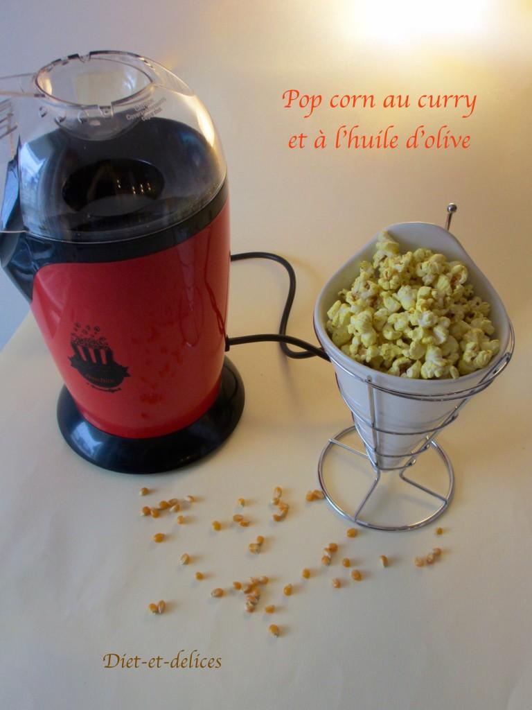 Pop corn au curry et à l'huile d'olive