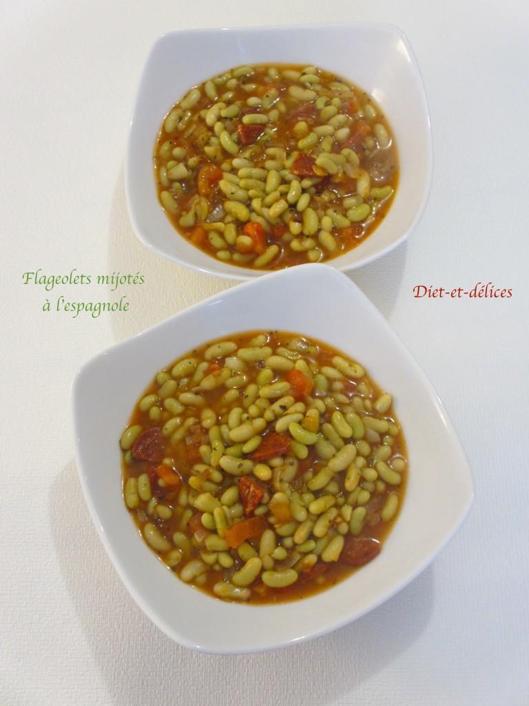 Flageolets mijotés à l'espagnole