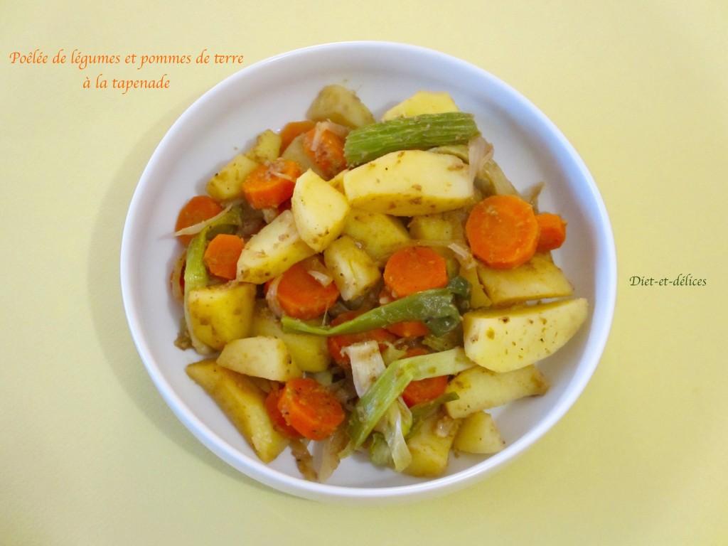 Poêlée de légumes et pommes de terre à la tapenade