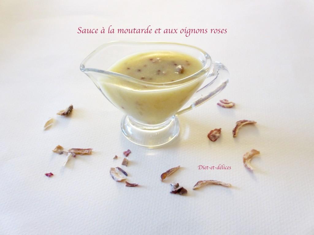Sauce à la moutarde et aux oignons roses