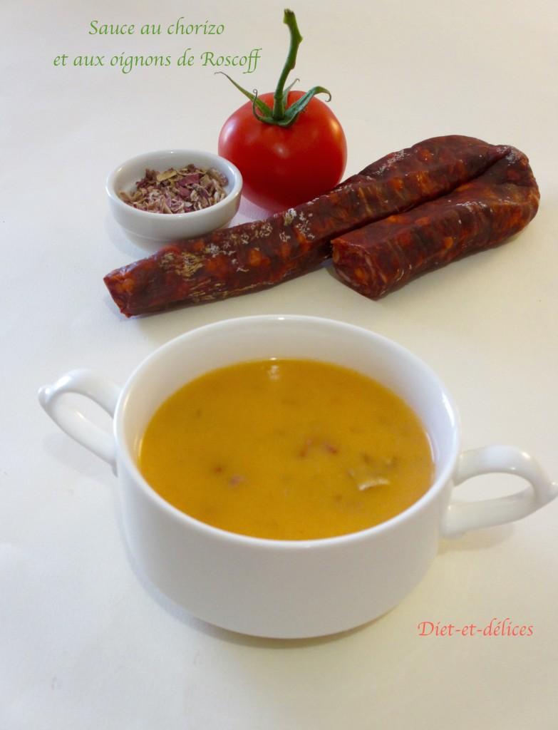 Sauce au chorizo et aux oignons de Roscoff