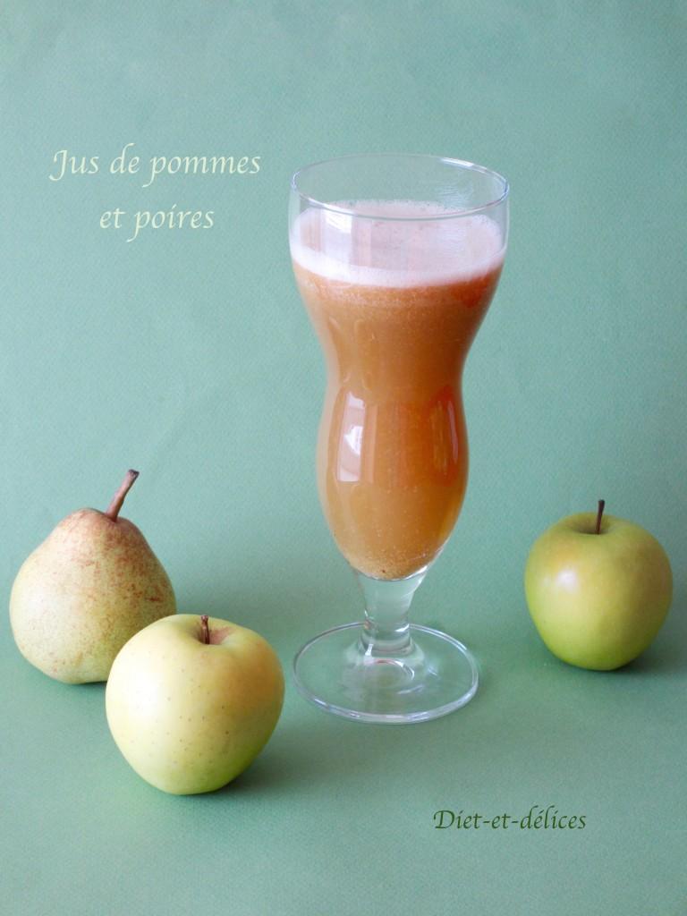 Jus de pommes et poires