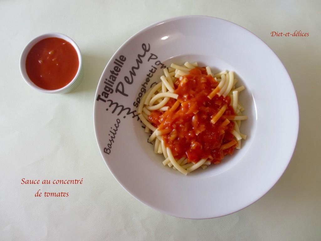 Sauce au concentré de tomates