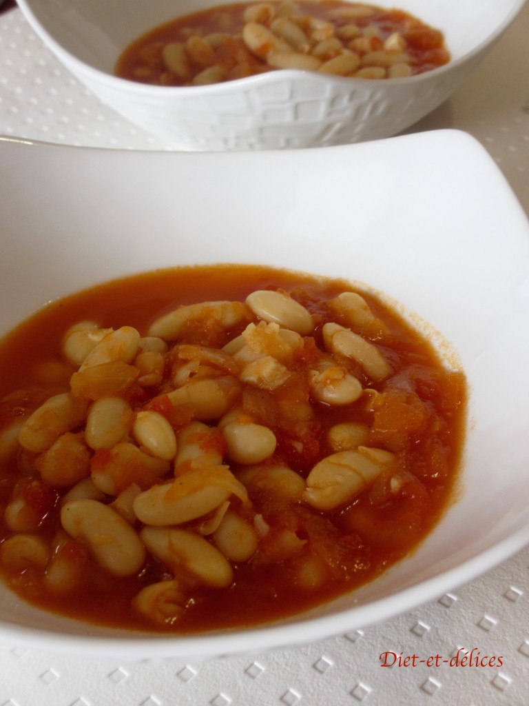 Haricots blancs mijotés à la tomate au cook expert