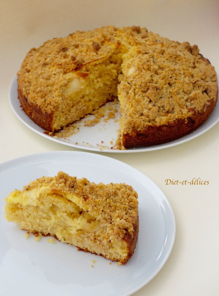 Gâteau streusel aux pommes