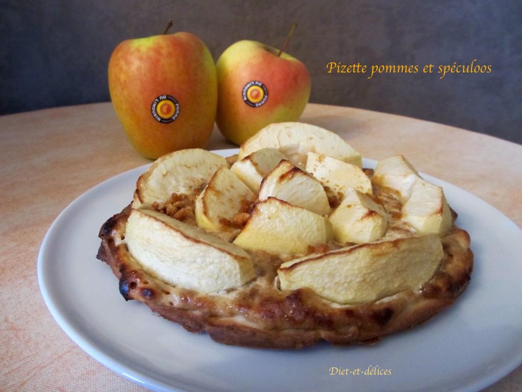 Pizzette aux pommes et aux spéculoos