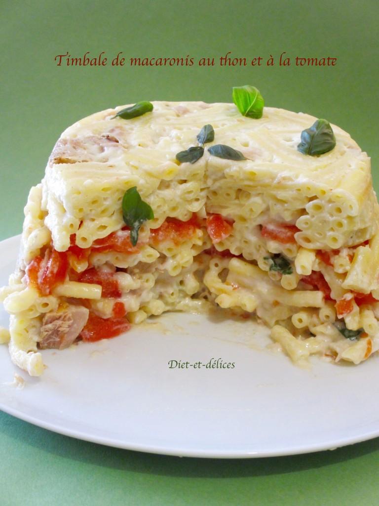 Timbale de macaronis au thon et à la tomate