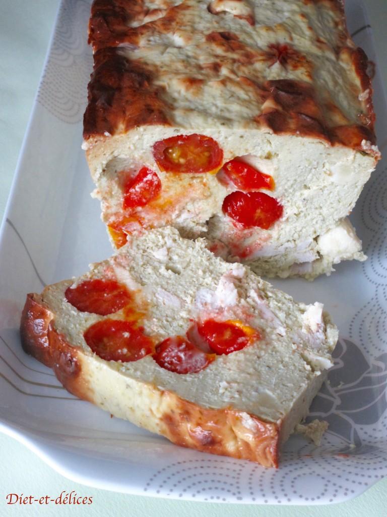 Terrine de poulet, tomate, pesto et mozzarella