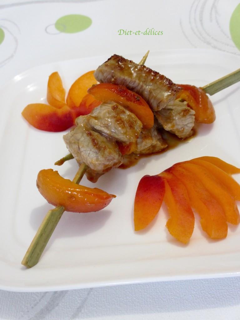 Brochettes de veau à l'abricot