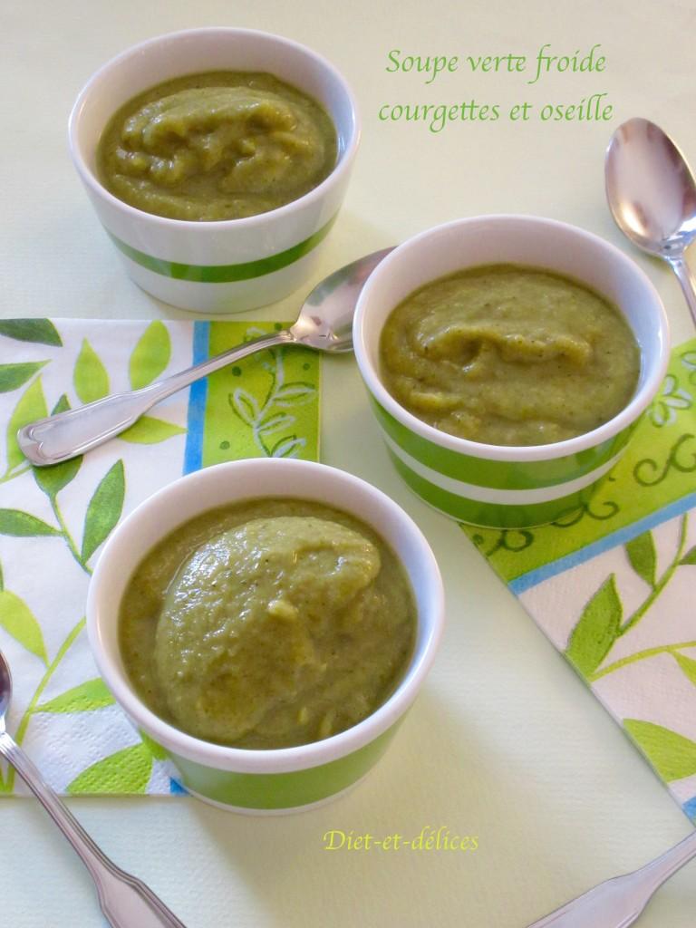 Soupe verte froide, courgettes et oseille