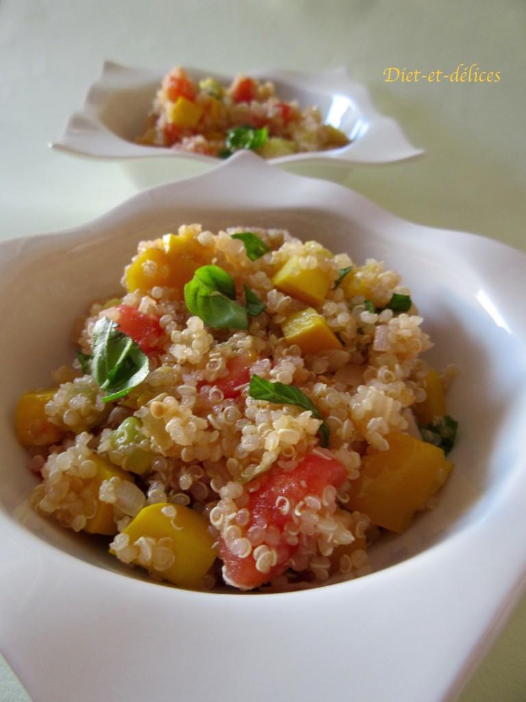Salade de quinoa aux légumes d'été