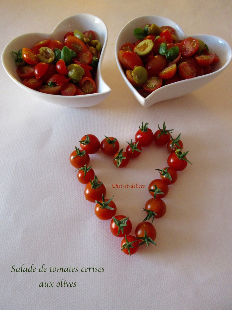 Salade de tomates cerises aux olives