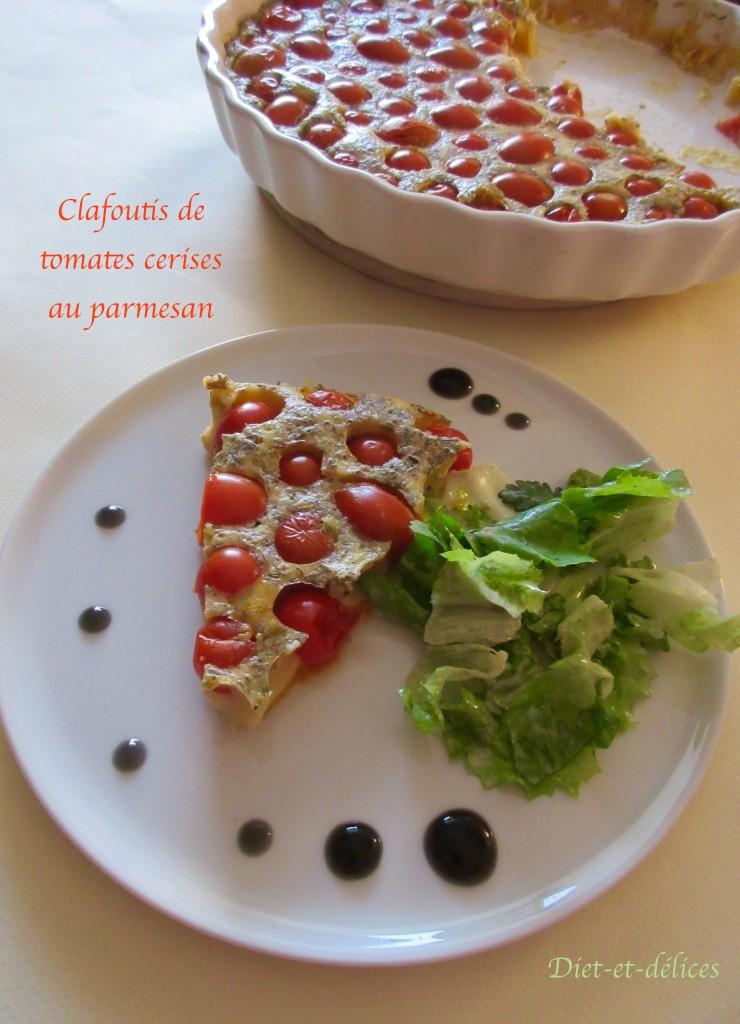 Clafoutis de tomates cerises au parmesan