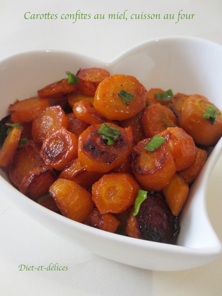 carottes confites au miel cuisson au four diet d lices recettes diet tiques. Black Bedroom Furniture Sets. Home Design Ideas