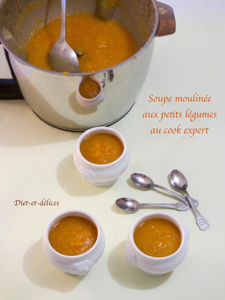 Soupe moulinée aux petits légumes au cook expert