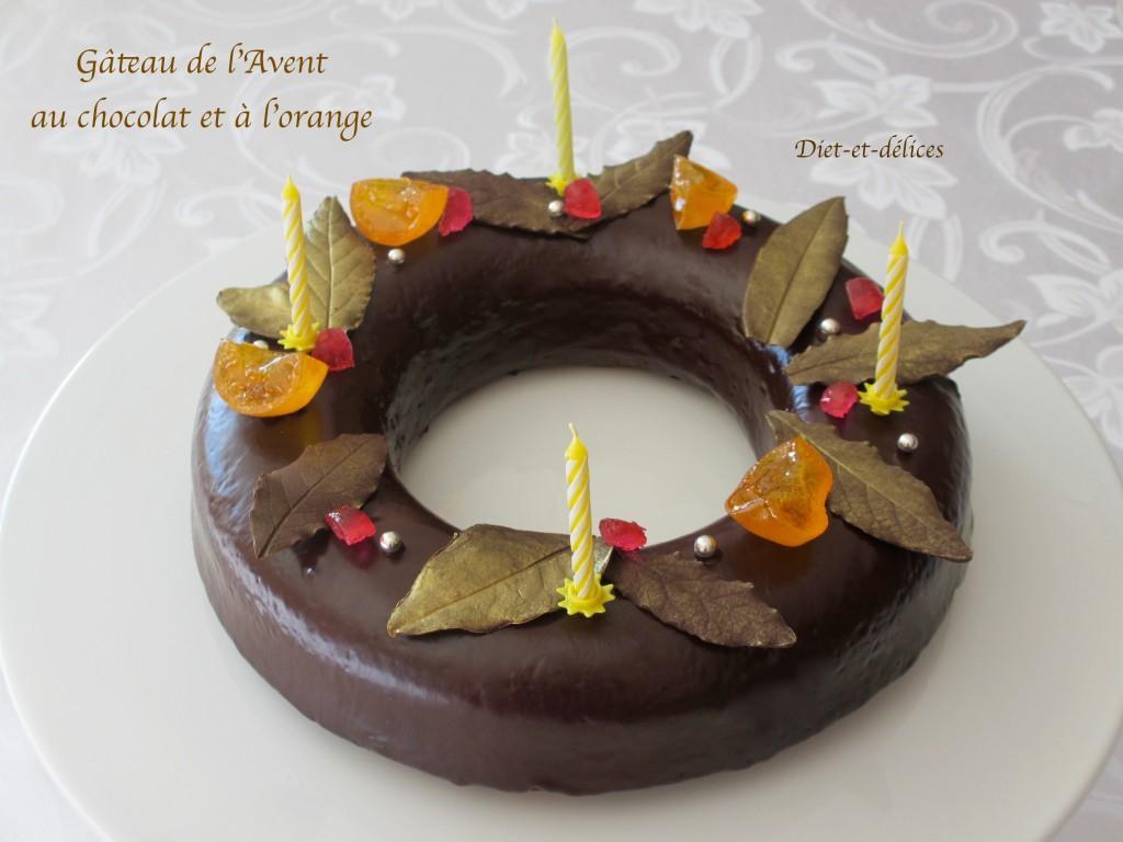 Gâteau de l'Avent au chocolat et à l'orange