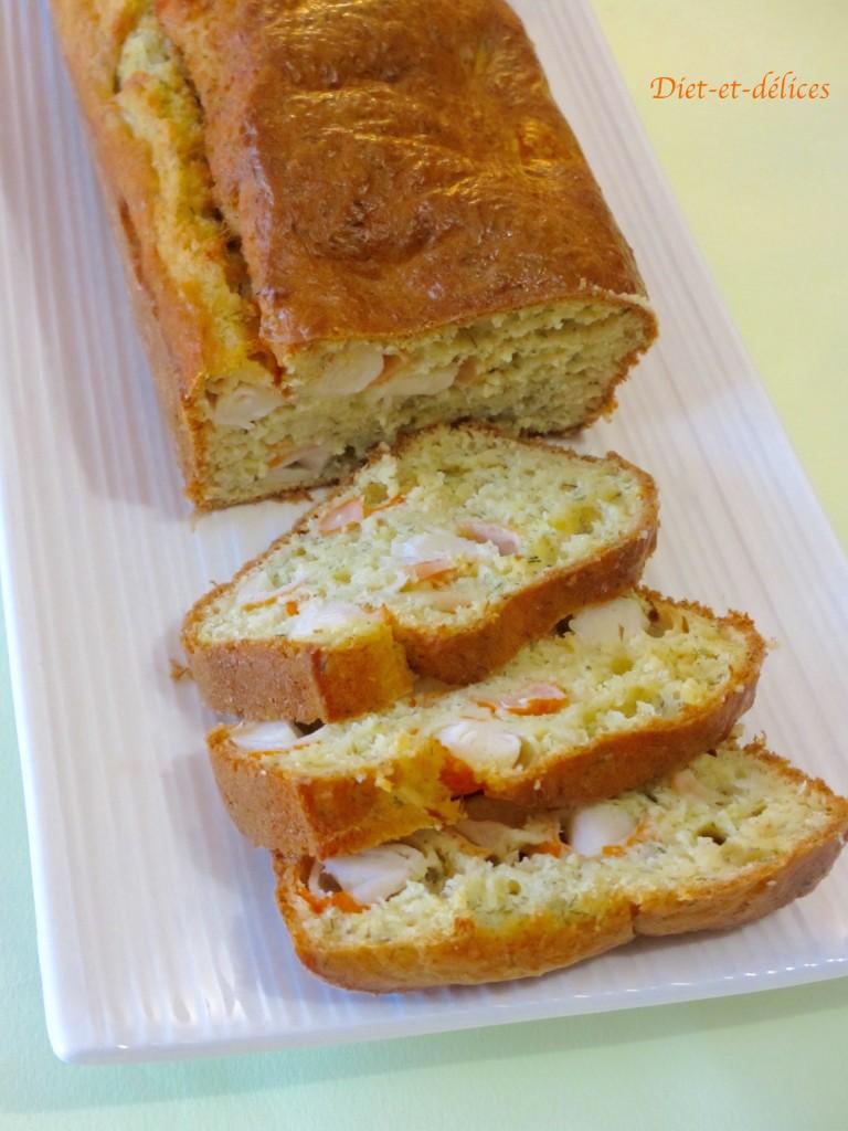 Cake de la mer au surimi et miettes de crabe