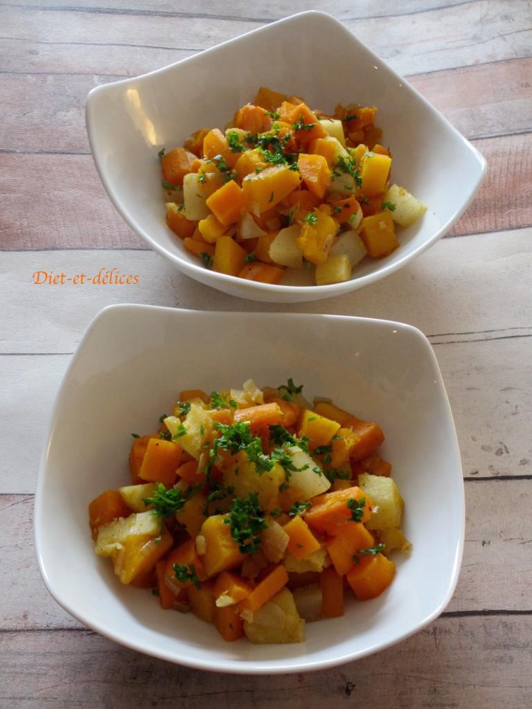 Poêlée orange aux légumes d'automne
