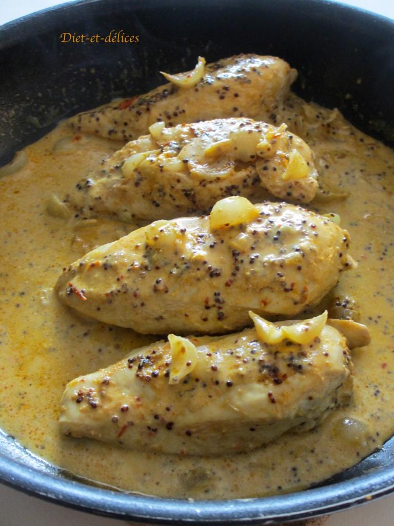 Filets de poulet à la moutarde et au miel