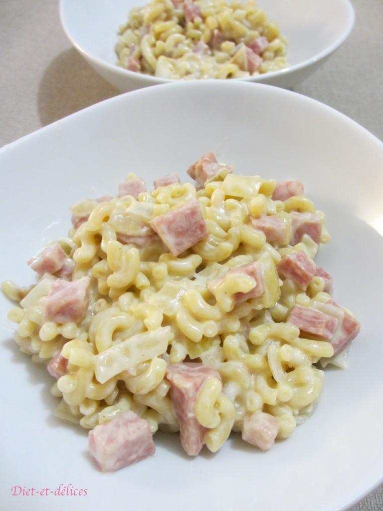 Risotto de coquillettes au jambon, mascarpone et parmesan