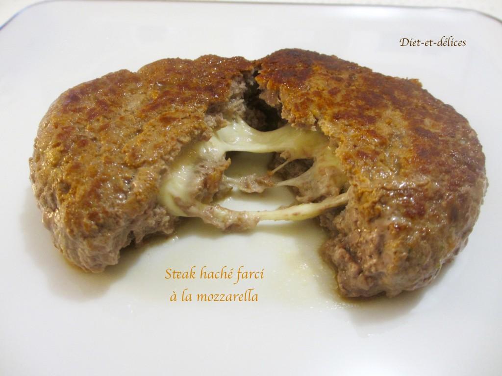 steak hach farci la mozzarella diet d lices recettes diet tiques. Black Bedroom Furniture Sets. Home Design Ideas