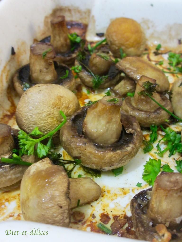 Champignons de Paris au four à l'ail et au persil