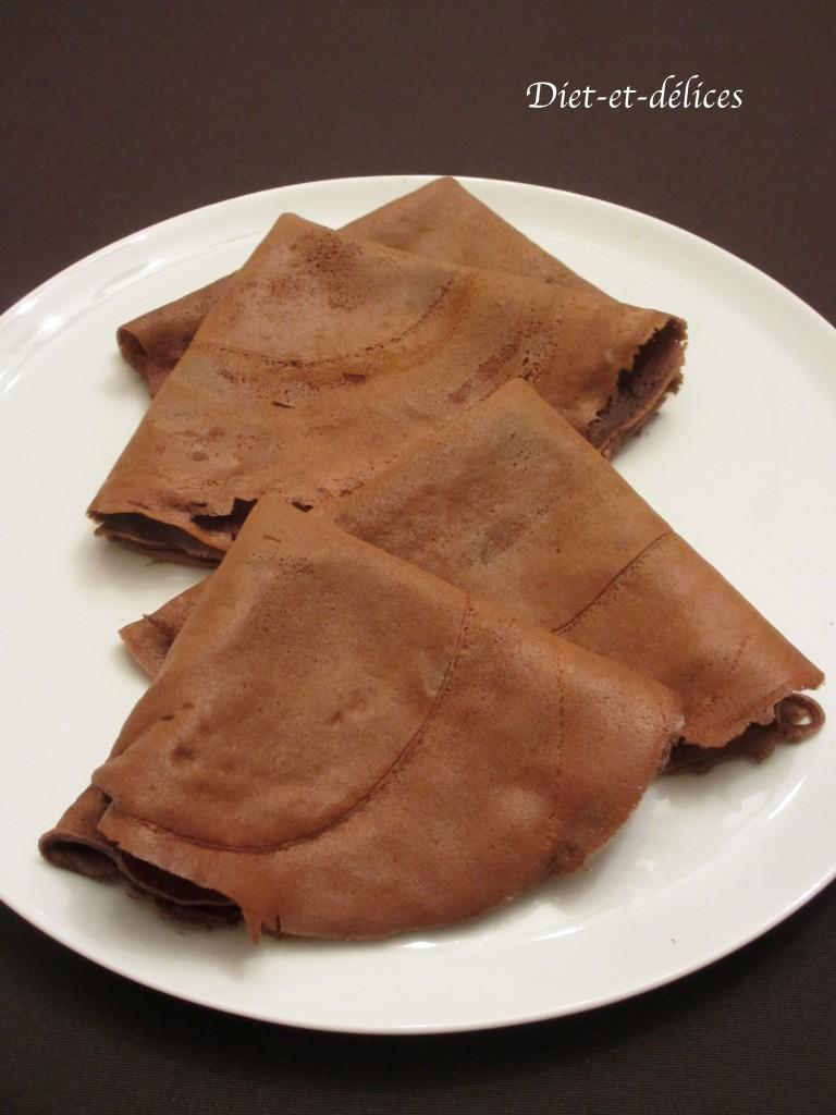 Pâte à crêpes cacaotée