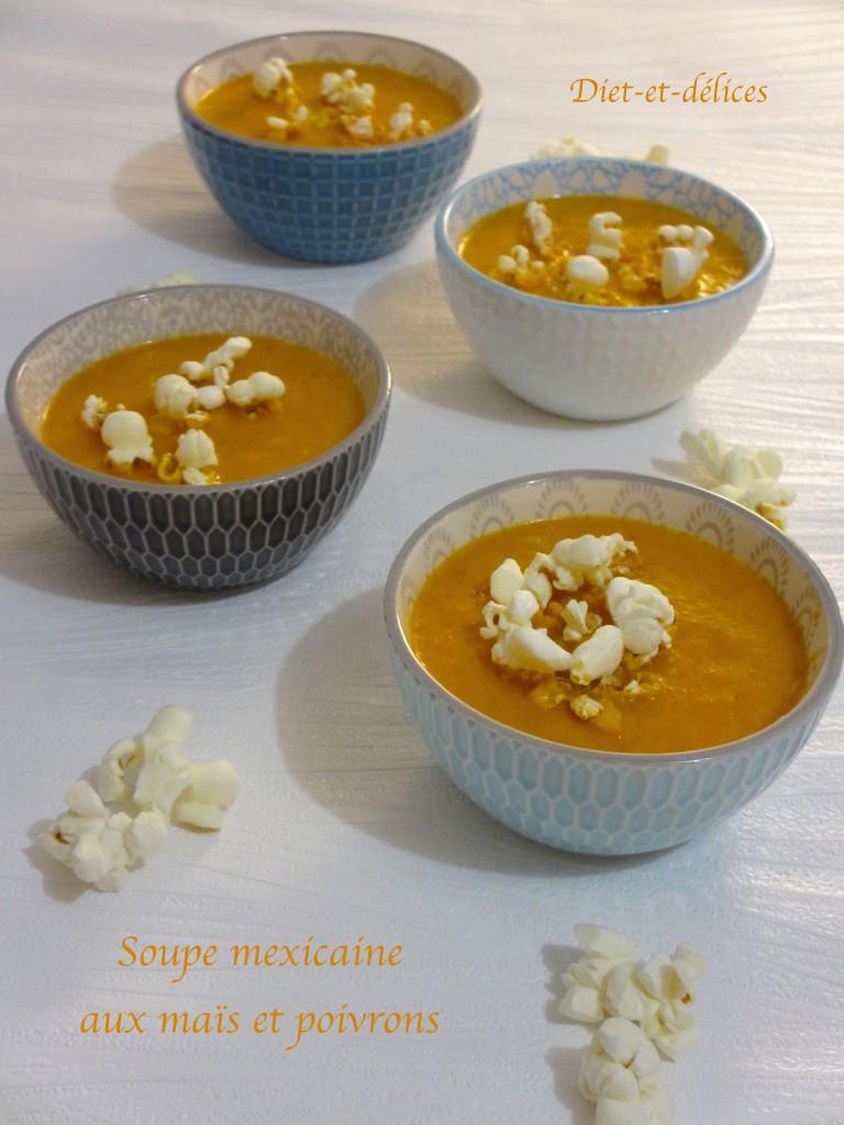 Soupe mexicaine aux maïs et poivrons