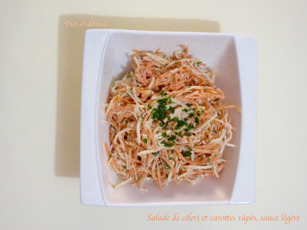 Salade de céleri et carottes râpés, sauce légère