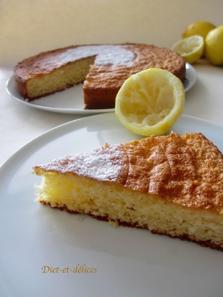 Gâteau au citron de Menton et à la poudre d'amandes (sans gluten)