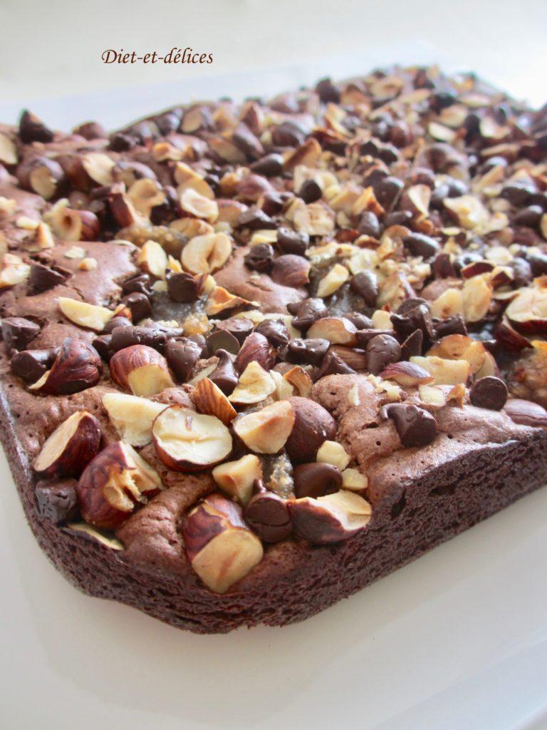 brownie aux noisettes et la cr me de marrons diet d lices recettes diet tiques. Black Bedroom Furniture Sets. Home Design Ideas