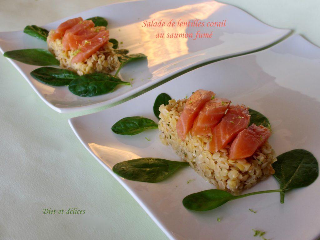 2c411491e5a255 Salade de lentilles corail au saumon fumé   Diet   Délices - Recettes  dietétiques